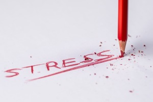 stress red pencil